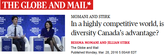 The Globe and Mail. In a highly competitive world, is diversity Canada's advantage?