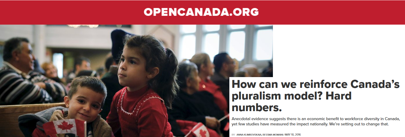 OPENCANADA.ORG. How can we reinforce Canada's pluralism model? Hard numbers.
