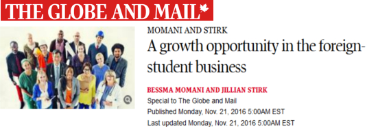 The Globe and Mail. A growth opportunity in the foreign-student business