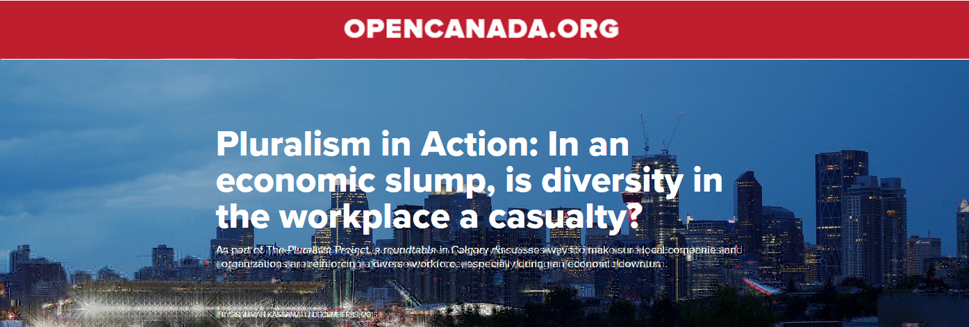 OPENCANADA.ORG. Pluralism in Action: In an economic slump, is diversity in the workplace a casualty?